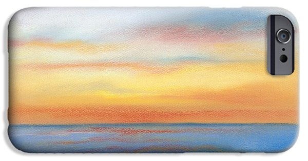 Ocean Sunset Pastels iPhone Cases - Farewell Florida iPhone Case by MM Anderson