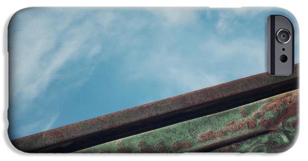 Rusted Cars iPhone Cases - Fargo iPhone Case by Priska Wettstein