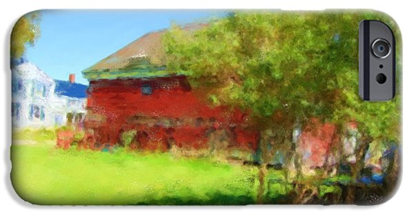 Maine Farms Paintings iPhone Cases - Farm 1086 20141006 iPhone Case by Julie Knapp