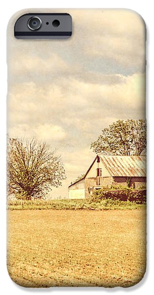 Farm and Fields  iPhone Case by Olivier Le Queinec