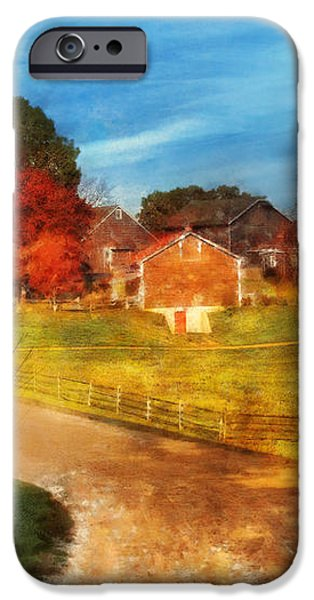 Farm - Barn -  A walk in the country iPhone Case by Mike Savad