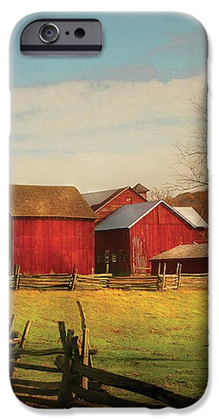 Farm - Barn - Just up the path iPhone Case by Mike Savad