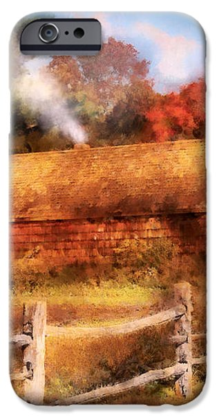 Farm - Barn - Our Cabin iPhone Case by Mike Savad