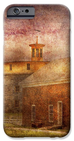 Farm - Barn - Shaker Barn  iPhone Case by Mike Savad