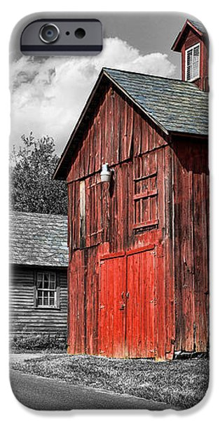 Farm - Barn - Weathered Red Barn iPhone Case by Paul Ward