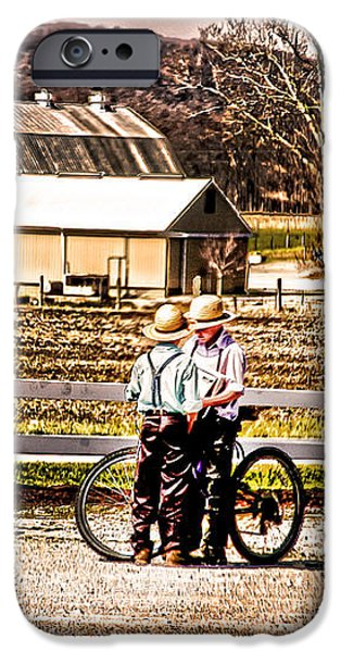 FARM BOYS COUNTRY EXCHANGE iPhone Case by Randall Branham