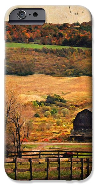 Farm Country Autumn - Sheldon NY iPhone Case by Lianne Schneider