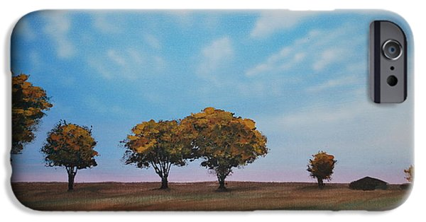 Must Art Paintings iPhone Cases - Farm iPhone Case by DC Decker