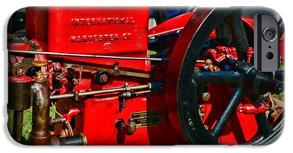 Feed Mill Photographs iPhone Cases - Farm Equipment - International Harvester Feed and Cob Mill iPhone Case by Paul Ward