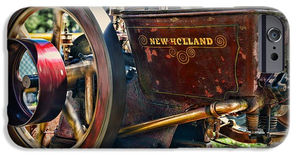 Feed Mill Photographs iPhone Cases - Farm Equipment - New Holland Feed and Cob Mill iPhone Case by Paul Ward