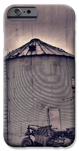 Machinery iPhone Cases - Farm Equipment And Silo iPhone Case by Dan Sproul