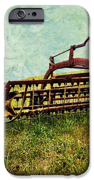 Farm Equipment in a field iPhone Case by Amy Cicconi