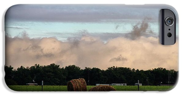 Approaching Storm iPhone Cases - Farm Field Drama iPhone Case by Dan Sproul