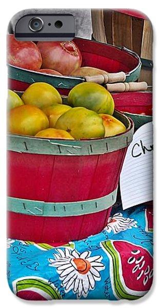 Farm Fresh Produce at the Farmers Market iPhone Case by JW Hanley