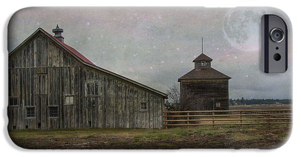 Agriculture iPhone Cases - Farm in Kalispell Montana iPhone Case by Juli Scalzi