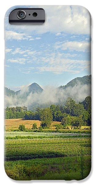 Farm in the Valley iPhone Case by Susan Leggett