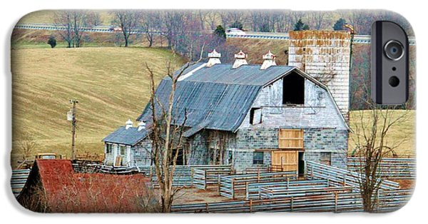 Shed iPhone Cases - Farm In Virginia iPhone Case by Cynthia Guinn
