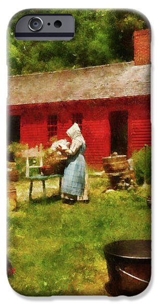 Farm - Laundry - Old School Laundry iPhone Case by Mike Savad