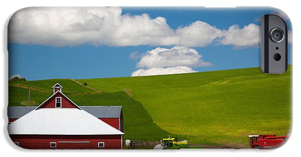 Combine iPhone Cases - Farm Machinery iPhone Case by Inge Johnsson