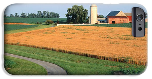 Crops iPhone Cases - Farm Nr Mountville Lancaster Co Pa Usa iPhone Case by Panoramic Images