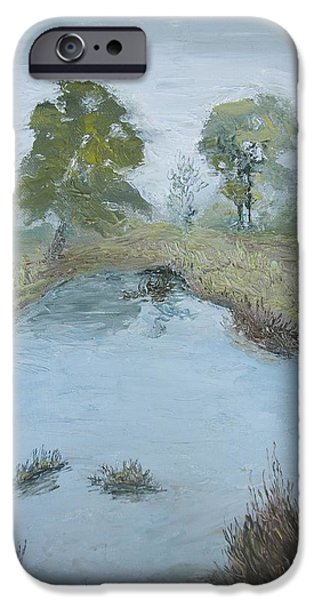 Farm Pond iPhone Case by Dwayne Gresham
