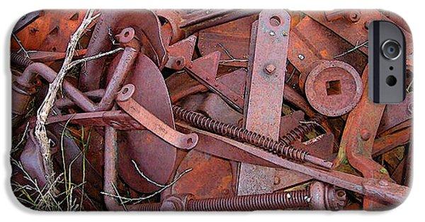 Nebraska iPhone Cases - Farm Rust iPhone Case by Jerry McElroy