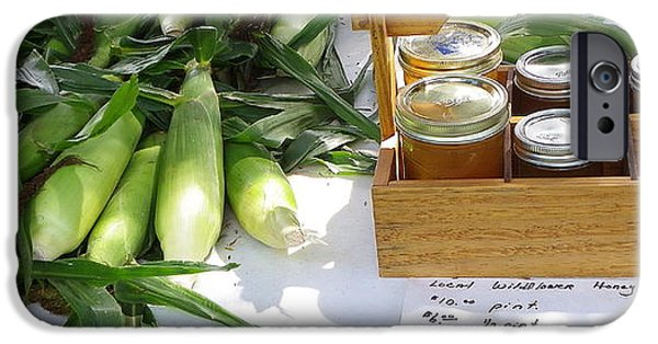 Sweet Corn Farm iPhone Cases - Farm Stand iPhone Case by Constance S Jackson