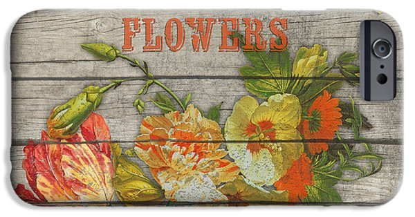 Locally Grown iPhone Cases - Farm to Table Flowers-JP2633 iPhone Case by Jean Plout