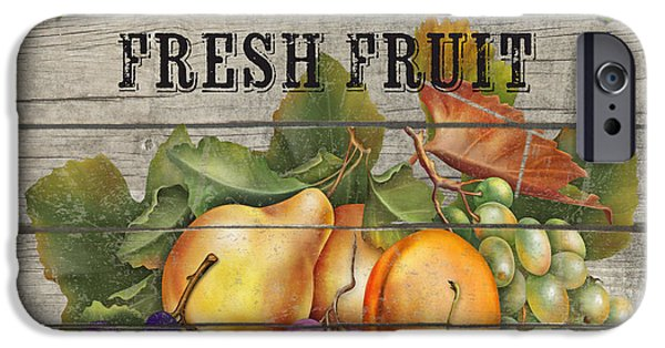 Locally Grown iPhone Cases - Farm to Table Fruit-JP2631 iPhone Case by Jean Plout