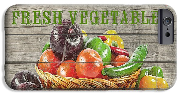 Locally Grown iPhone Cases - Farm to Table Vegetables-JP2632 iPhone Case by Jean Plout