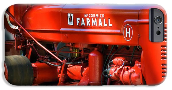 Central Il iPhone Cases - Farm Tractor 11 iPhone Case by Thomas Woolworth