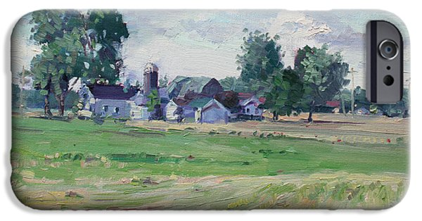 Barns iPhone Cases - Farm iPhone Case by Ylli Haruni