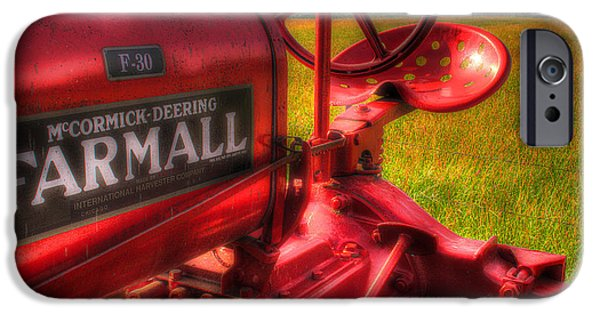 Recently Sold -  - Rural iPhone Cases - Farmall Morning iPhone Case by Michael Eingle
