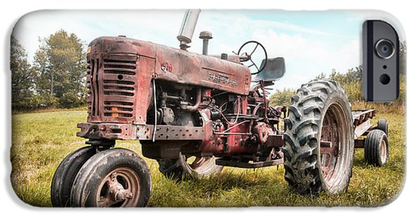 Recently Sold -  - Agricultural iPhone Cases - Farmall Tractor Dream - farm machinary - Industrial decor iPhone Case by Gary Heller