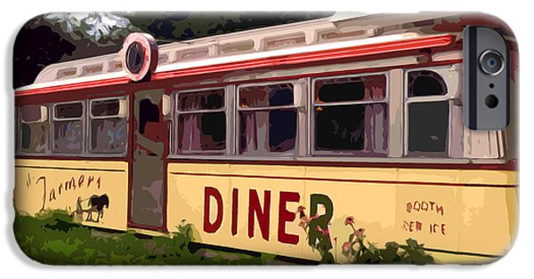 Dogs iPhone Cases - Farmers Diner iPhone Case by Jean Hall