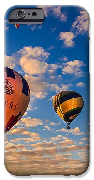 Farmer's Insurance Hot Air Ballon iPhone Case by Robert Bales