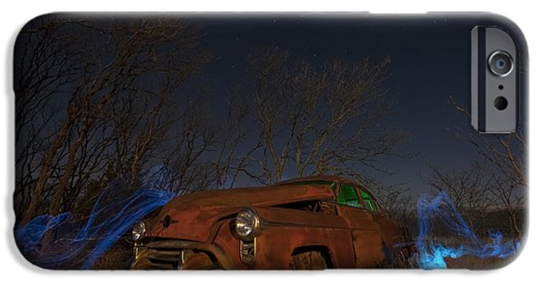 Moon Light iPhone Cases - Farmers Limo iPhone Case by Keith Kapple