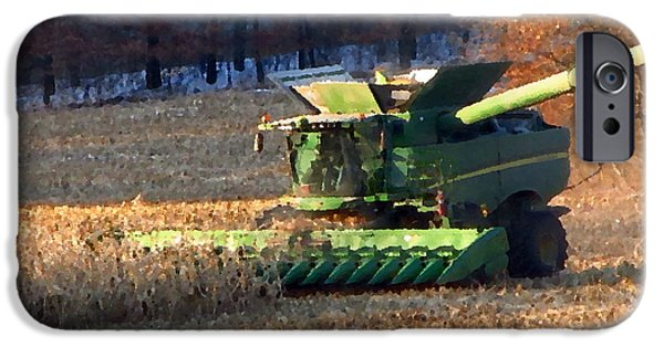 Machinery Mixed Media iPhone Cases - Farmers Love  iPhone Case by Robert  Nacke