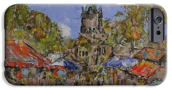 French Open iPhone Cases - Farmers Market at a French Village iPhone Case by Jorge Garza