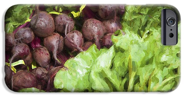 Farm Stand iPhone Cases - Farmers Market Beets and Greens iPhone Case by Carol Leigh