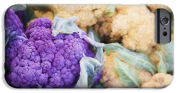 Farm Stand iPhone Cases - Farmers Market Purple Cauliflower iPhone Case by Carol Leigh