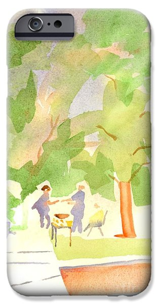 Harvest Time iPhone Cases - Farmers Market Vll iPhone Case by Kip DeVore