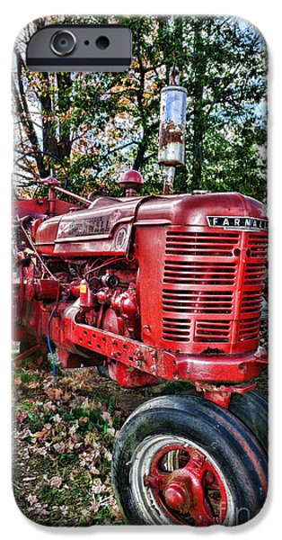 Harvest Time iPhone Cases - Farmers Tractor iPhone Case by Paul Ward
