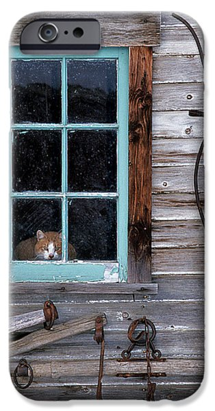 Wooden Building iPhone Cases - Farmhand iPhone Case by Latah Trail Foundation