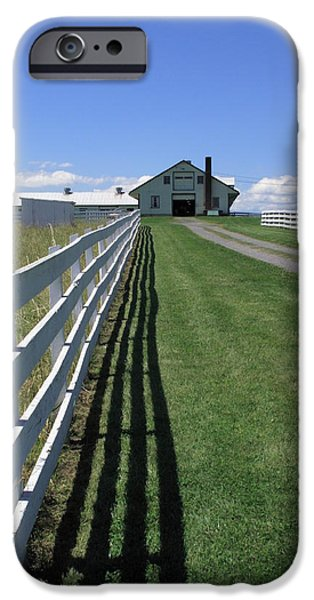 Farmhouse and Fence iPhone Case by Frank Romeo