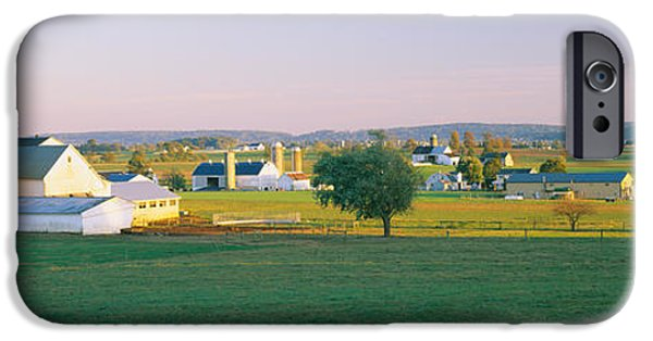 Amish iPhone Cases - Farmhouse In A Field, Amish Farms iPhone Case by Panoramic Images