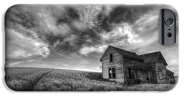 Crops iPhone Cases - Farmhouse B and W iPhone Case by Latah Trail Foundation