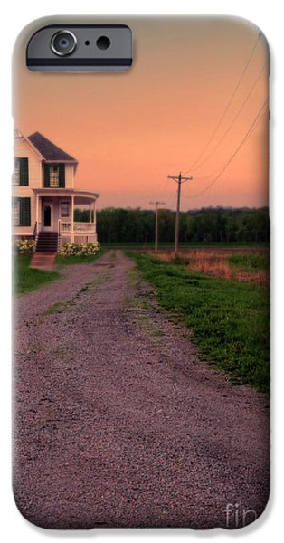 Recently Sold -  - Haunted House iPhone Cases - Farmhouse on Gravel Road iPhone Case by Jill Battaglia