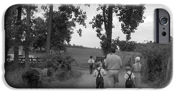 Amish Community Photographs iPhone Cases - Farming Family Faith iPhone Case by Tina M Wenger