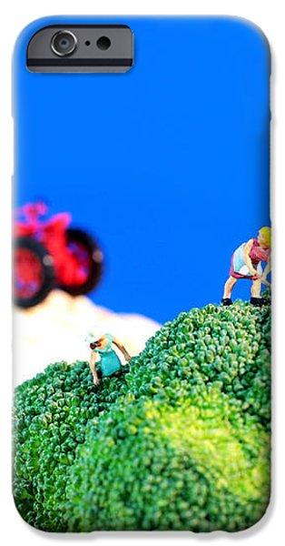 Farming on broccoli and cauliflower II iPhone Case by Paul Ge